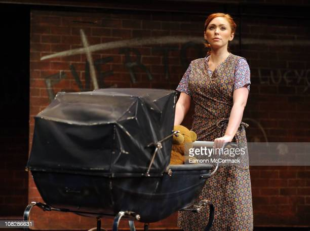 Natasha Hamilton appears as the iconic role of Mrs Johnstone in Blood Brothers on January 24 2011 in London United Kingdom