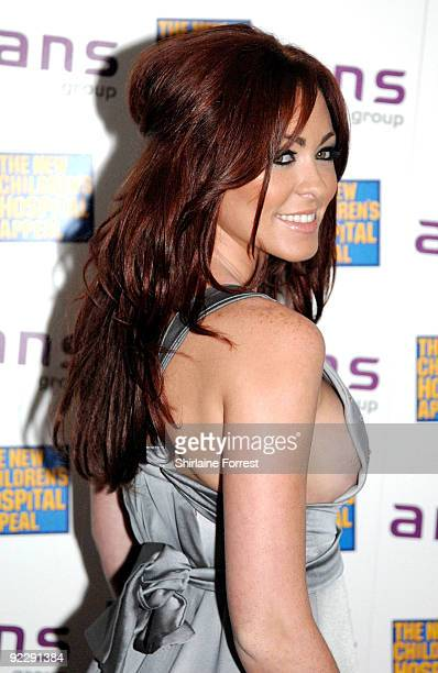 Natasha Hamilton attends Notte Bella Il Finito fundraising event for The New Children's Hospital Appeal at The Hilton on October 22 2009 in...