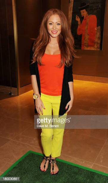 Natasha Hamilton attends the UK Premiere of Justin and the Knights of Valour at The May Fair Hotel on September 8 2013 in London England