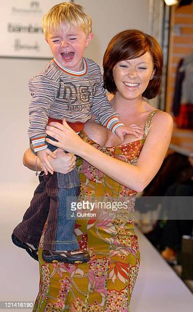 Natasha Hamilton during DG Children's Fashion Show at Harrods in London Great Britain