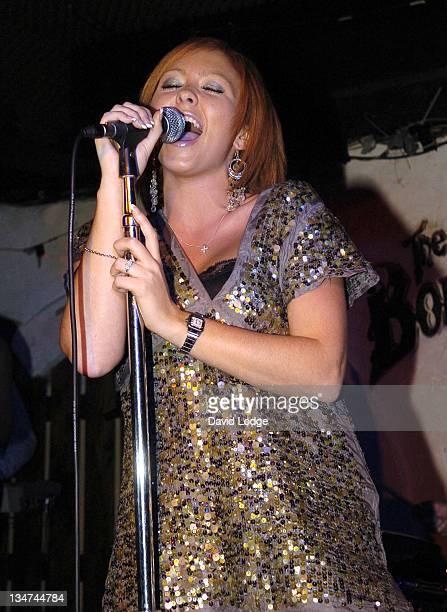 Natasha Hamilton during Natasha Hamilton in Concert at The Borderline in London October 13 2005 at The Borderline in London Great Britain