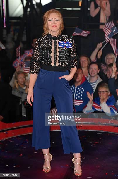 Natasha Hamilton enters the Celebrity Big Brother house at Elstree Studios on August 27 2015 in Borehamwood England