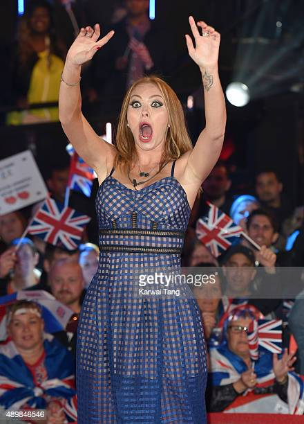 Natasha Hamilton is evicted from the Celebrity Big Brother House at Elstree Studios on September 24 2015 in Borehamwood England