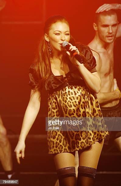 Natasha Hamilton of Atomic Kitten performs at G-A-Y Astoria,on February 02, 2008 in London.