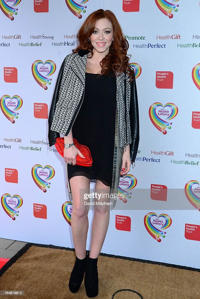 Natasha Hamilton sighted arriving for The Health Lottery Fundraising Event outside Claridges Hotel on March 28, 2013 in London, England.