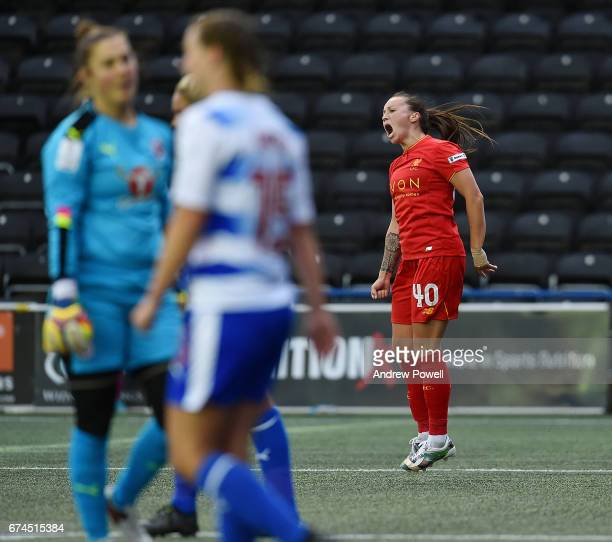 Natasha Harding of Liverpool Ladies celebrates after scoring the second goal making it 22 during a Women's Super League match between Liverpool...