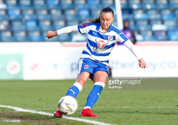 Natasha Harding of Reading FC Women during The SSE Womens FA Cup Quarter Final match between Reading FC Women and Manchester United Women at Adams...