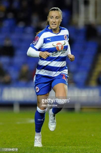 Natasha Harding of Reading runs off the ball during the FA Women's Super League match between Reading Women and West Ham United Women at Madejski...