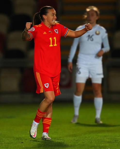 GBR: Wales Women v Belarus Women - UEFA Women's EURO 2022 Qualifier