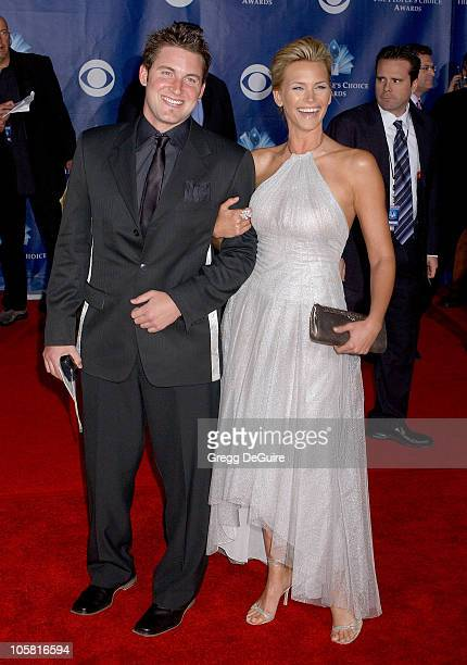 Natasha Henstridge and brother during The 32nd Annual People's Choice Awards - Arrivals at Shrine Auditorium in Los Angeles, California, United...