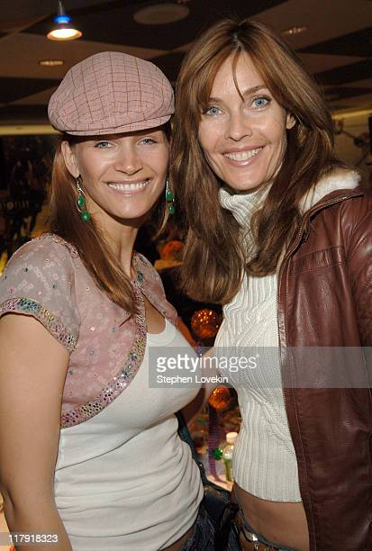 Natasha Henstridge and Carol Alt during Ringling Brothers Barnum and Bailey Circus Pre-Show Celebrity Event at Madison Square Garden in New York...