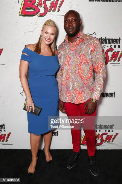 Natasha Henstridge and Edward Apeagyei at Entertainment Weekly's annual ComicCon party in celebration of ComicCon 2017 at Float at Hard Rock Hotel...