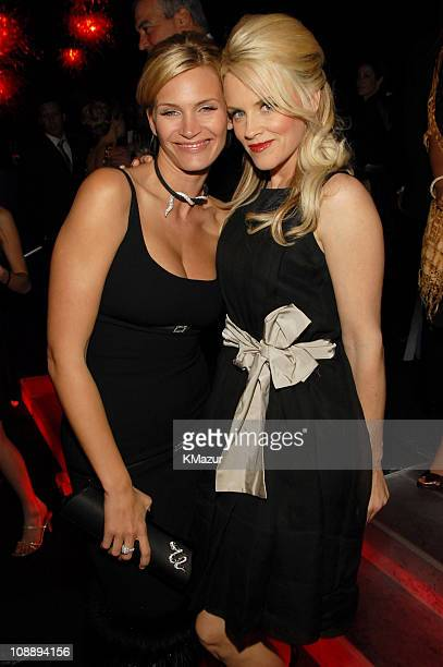 Natasha Henstridge and Jenny McCarthy during InStyle Warner Bros 2006 Golden Globes After Party Inside at Beverly Hilton in Beverly Hills California...