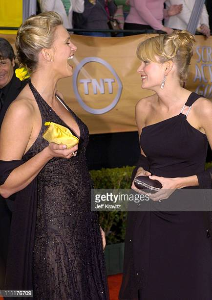 Natasha Henstridge and Sunny Mabrey during The 10th Annual Screen Actors Guild Awards - Arrivals at The Shrine Auditorium in Los Angeles, California,...