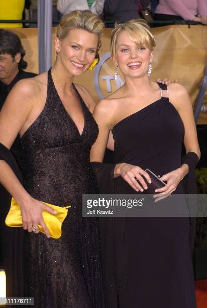 Natasha Henstridge and Sunny Mabrey during The 10th Annual Screen Actors Guild Awards Arrivals at The Shrine Auditorium in Los Angeles California...