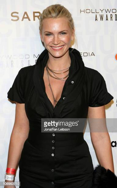 Natasha Henstridge arrives for the 2010 Hollywood Music In Media Awards at The Highlands club in the Hollywood Highland Center on November 18 2010 in...