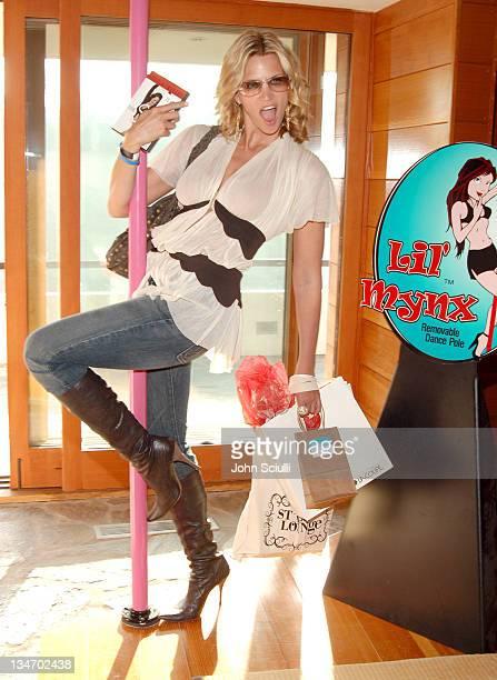 Natasha Henstridge at Lil' Mynx during Golden Globes Style Lounge Presented by Kari Feinstein PR - Day 1 in Los Angeles, California, United States.