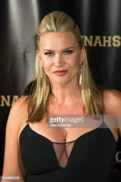 Natasha Henstridge attends the International SciFi Series 'Medinah' premiere and red carpet reception at ComicCon International 2017 at The...