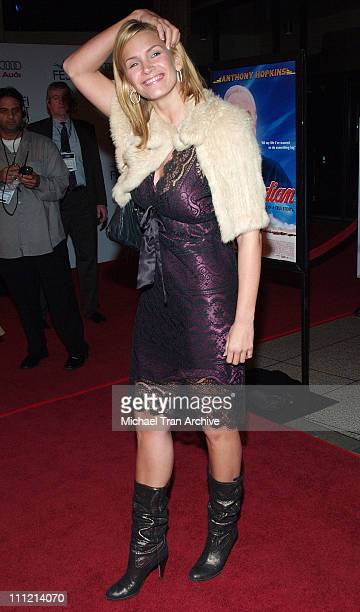 Natasha Henstridge during AFI Fest 2005 The World's Fastest Indian Los Angeles Premiere Arrivals at Cinerama Dome Arclight in Hollywood California...