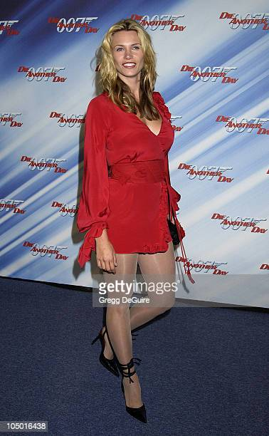 Natasha Henstridge during Die Another Day Los Angeles Premiere at Shrine Auditorium in Los Angeles California United States