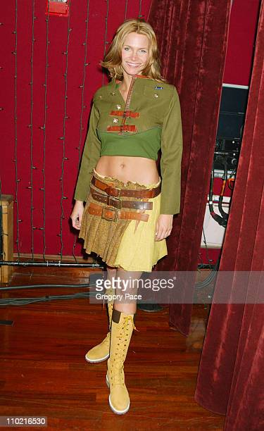Natasha Henstridge during Dressed to Kilt A Scottish Evening of Fashion and Fun Arrivals and Backstage at Copacabana in New York City New York United...