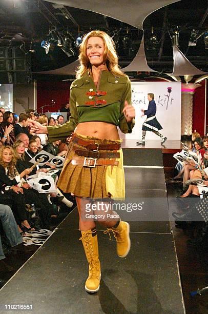 Natasha Henstridge during Dressed to Kilt A Scottish Evening of Fashion and Fun Runway at Copacabana in New York City New York United States