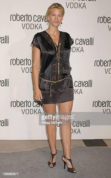 "Natasha Henstridge during Fashion Designer Roberto Cavalli Celebrates The Launch Of ""Roberto Cavalli Vodka"" - Arrivals at Private Residence in Holmby..."