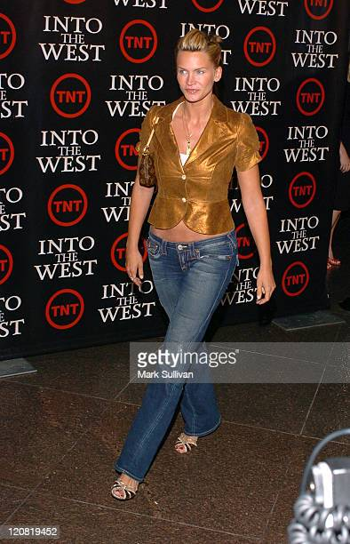 Natasha Henstridge during 'Into The West' West Coast Premiere Arrivals at Directors Guild Theater in Los Angeles California United States