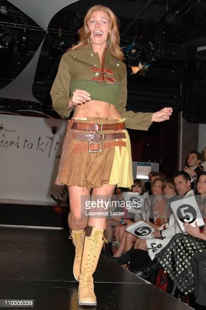 Natasha Henstridge during Johnnie Walker Presents Dressed to Kilt Arrivals and Runway at Copacabana in New York City New York United States