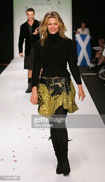 "Natasha Henstridge during Johnnie Walker Presents ""Dressed to Kilt"" - Runway Show at Smashbox Studios in Los Angeles, California, United States."