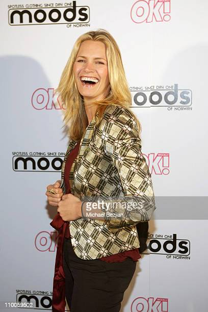 Natasha Henstridge during Moods of Norway Launch of Grandpa's Disco Wear Hosted by OK Magazine at Boulevard 3 in Hollywood California United States