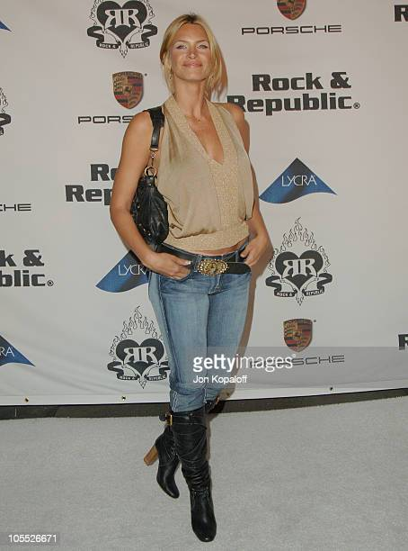 Natasha Henstridge during Rock Republic Love Rocks Fashion Show Spring 2006 at Sony Studios in Culver City California United States