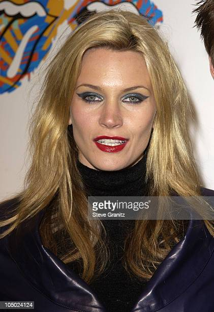 Natasha Henstridge during Rolling Stones Host Fashion And Licks 2002 Arrivals at Beverly Hilton Hotel in Beverly Hills California United States