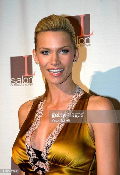 Natasha Henstridge during The Rebirth of L Salon Fashion Show and Party at L Salon in Los Angeles, California, United States.