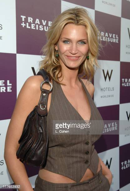 Natasha Henstridge during Travel Leisure Magazine Celebrates 35th Birthday Red Carpet at W Hotel in Los Angeles California United States