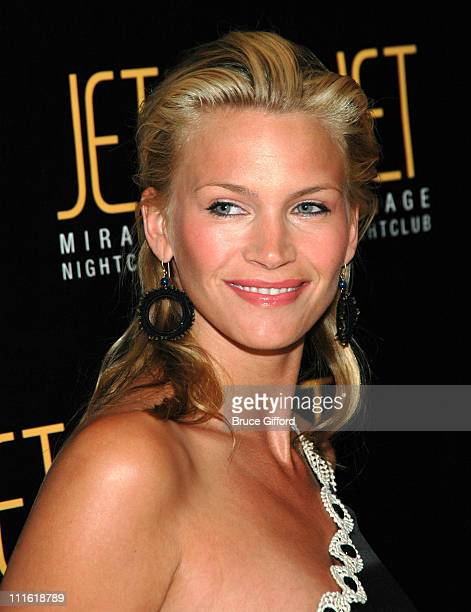 Natasha Henstridge during Victoria's Secret Las Vegas Store One Year Anniversary Celebration at Jet Mirage Nightclub in Las Vegas, Nevada, United...