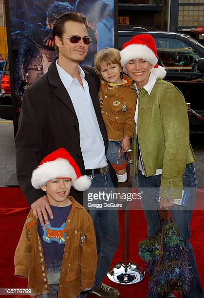 Natasha Henstridge, Liam Waite and sons Asher and Tristan