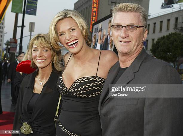 Natasha Henstridge with mother Helen and father Brian