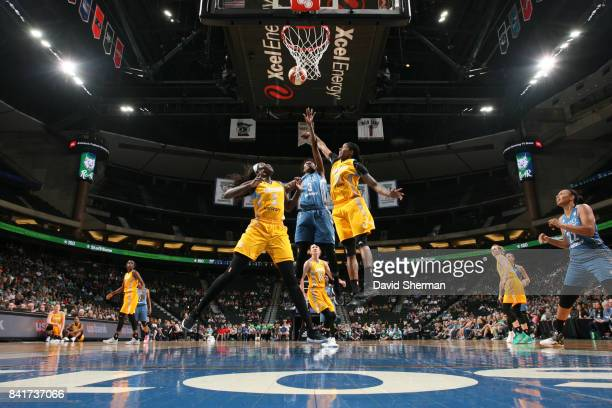 Natasha Howard of the Minnesota Lynx shoots the ball against the Chicago Sky on September 1 2017 at Xcel Energy Center in St Paul Minnesota NOTE TO...