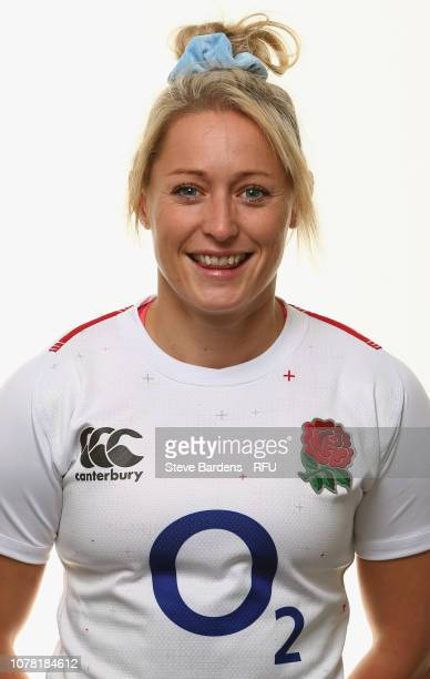 Natasha Hunt of England poses for a portrait during the England Women's Squad photo call at Bisham Abbey on January 6 2019 in Marlow England