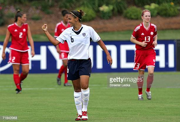 4a8c9fcabaa Natasha Kai of the USA celebrates after scoring during their game against  Canada on July 30