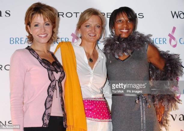 Natasha Kaplinsky Alice Beer and Denise Lewis during a photocall before the Breast Cancer Care 2004 Fashion Show held at the Grosvenor House Hotel on...