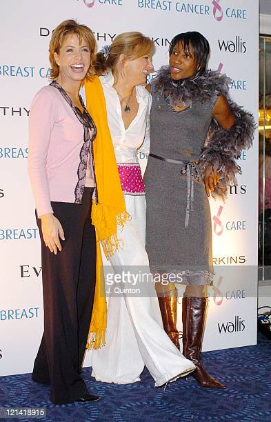 Natasha Kaplinsky Alice Beer and Denise Lewis during Breast Cancer Care's Fashion Show 2004 at Grosvenor House in London Great Britain