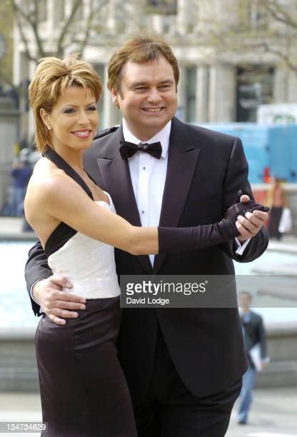 Natasha Kaplinsky and Eamonn Holmes during 'A Party to Remember Live from Trafalgar Square' 60th Anniversary of VE Day Launch at Trafalgar Square in...