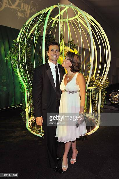 Natasha Kaplinsky and husband Justin Bower attend Ronan Keating's fourth annual Emeralds and Ivy Ball in aid of Cancer Research UK at Battersea...
