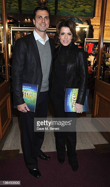 Natasha Kaplinsky and Justin Bower attend the 'Cirque du Soleil Totem Premiere' at the Royal Albert Hall on January 5 2012 in London England
