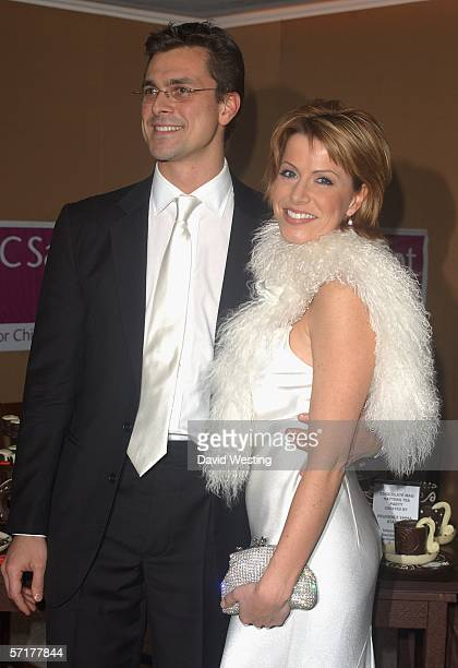 Natasha Kaplinsky and Partner Justin Bower attend the Chocolate Ball a fundraising event in aid of CLIC Sargent at The Dorchester on March 24 2006 in...