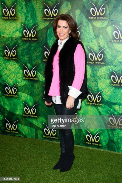 Natasha Kaplinsky arrives at the Cirque du Soleil OVO premiere at Royal Albert Hall on January 10 2018 in London England