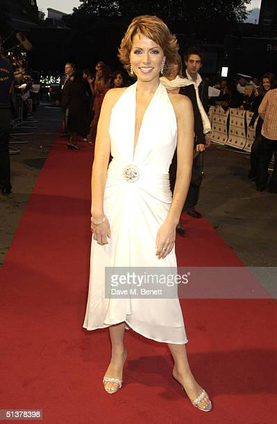 Natasha Kaplinsky arrives at the Mobo Awards 2004 at The Royal Albert Hall on September 30 2004 in London
