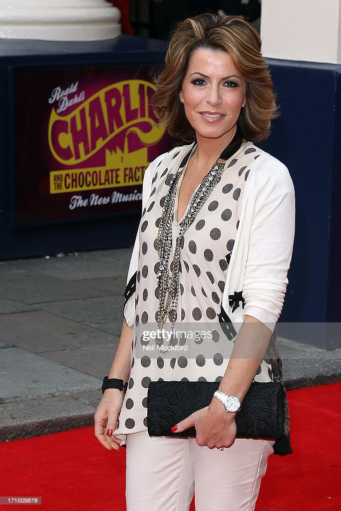 Natasha Kaplinsky attends the press night for 'Charlie and the Chocolate Factory' at Theatre Royal on June 25, 2013 in London, England.